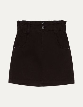 Short paperbag skirt - Skirts - Bershka Indonesia