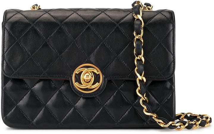Pre-Owned quilted CC single chain mini shoulder bag