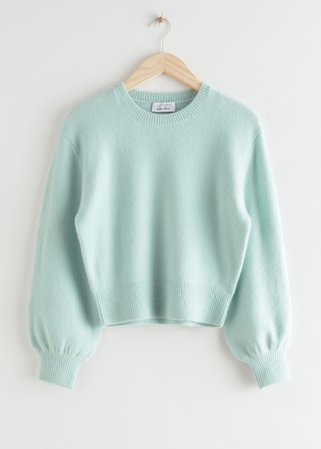 Cropped Sweater - Light Green - Sweaters - & Other Stories