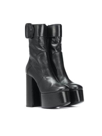 "Saint Laurent ""Billy"" platform leather ankle boots"