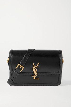 Solferino Medium Leather Shoulder Bag - Black