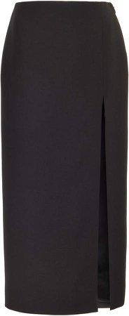 Valentino High-Rise Wool-Silk Skirt