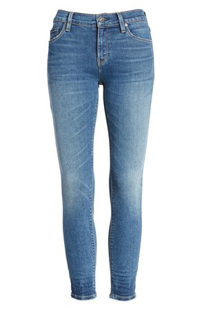 Hudson Jeans Nico Ripped Ankle Skinny Jeans (Friction)   Nordstrom
