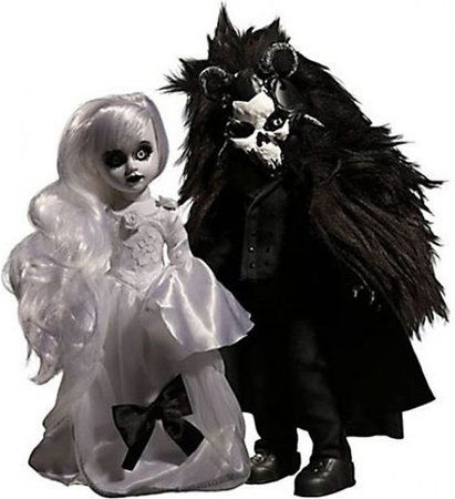 Living Dead Dolls Scary Tales Beauty The Beast 10 Doll 2-Pack Mezco Toyz - ToyWiz