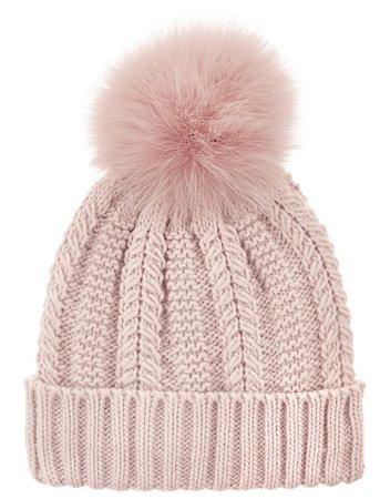 Chunky Knit Pom-Pom Beanie Pink | Hats | Accessorize UK