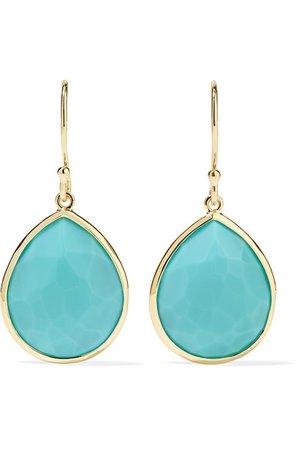 Ippolita | Rock Candy 18-karat gold turquoise earrings | NET-A-PORTER.COM