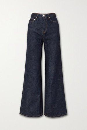 Romy High-rise Wide-leg Denim Jeans - Dark denim