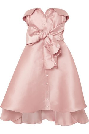 Alexis Mabille | Tie-detailed faille mini dress | NET-A-PORTER.COM