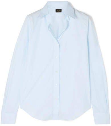 Cotton-poplin Shirt - Blue