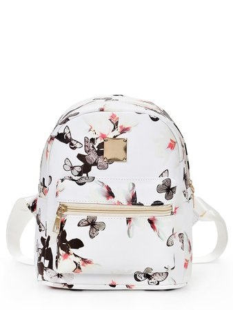 Vintage Flower Print Backpack | ROMWE