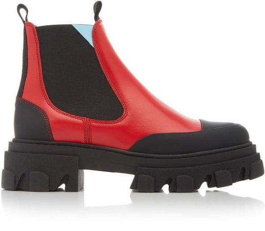 Ganni Two Tone Ankle Boots