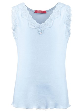 Camisole for girls blue lace