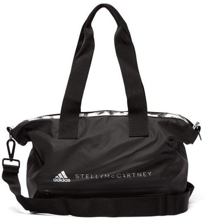 Small Leopard Trim Studio Bag - Womens - Black Multi