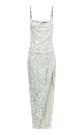 Sequined Tulle Wrap Dress By Balmain | Moda Operandi