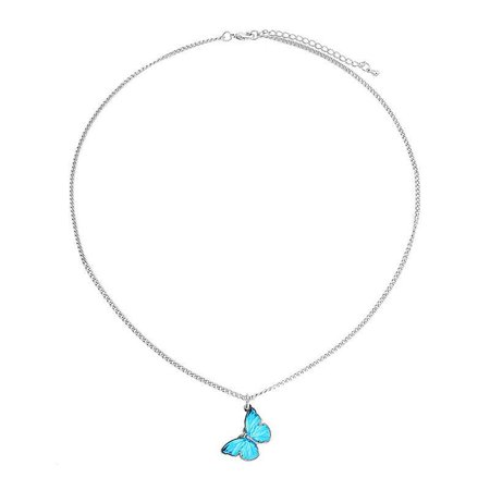 Butterfly Chain Necklace – White Tanuki