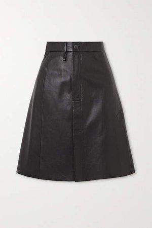 Lisbeth Leather Skirt - Black