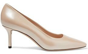 Cipria Metallic Leather Pumps