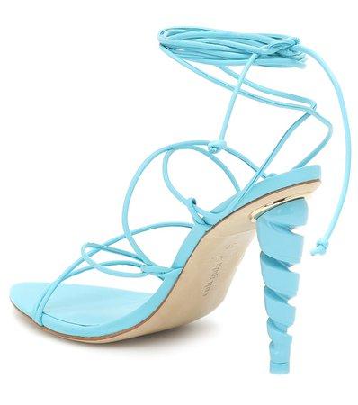 Cult Gaia - Lexi leather sandals | Mytheresa