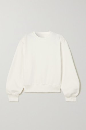 Vanessa Cotton-jersey Sweatshirt - White