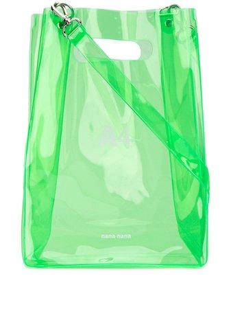 Green Nana-Nana transparent tote bag - Farfetch