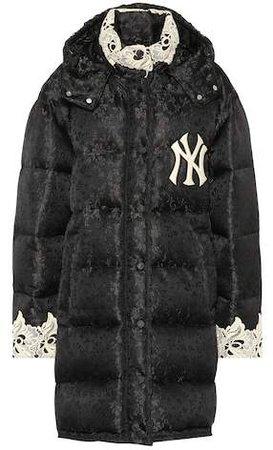 NY Yankees jacquard puffer coat