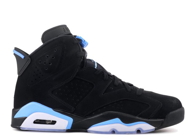 "Air Jordan 6 Retro ""UNC"" - Air Jordan - 384664 006 - black/university blue 