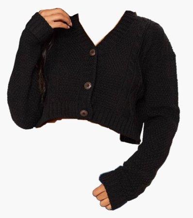 black cardigan