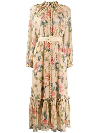 Zimmermann Floral Midi Dress - Farfetch