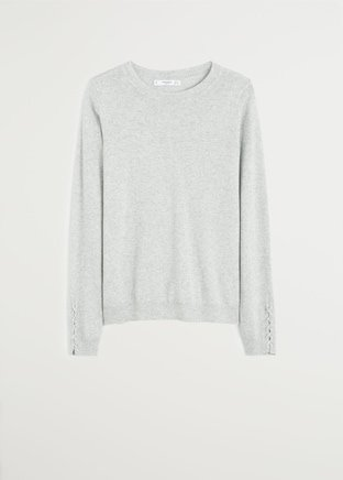 Braided sleeve sweater - Women | Mango USA grey