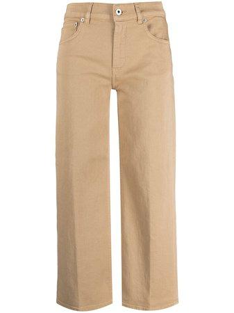 Dondup Cropped Wide Leg Jeans - Farfetch