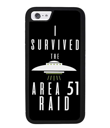 Amazon.com: I Survived The Area 51 Raid UFO Alien Conspiracy Apple iPhone Black Rubber Phone Case iPhone X iPhone XS Max iPhone XR iPhone 8 iPhone 7 iPhone 8 Plus iPhone 7 Plus iPhone 6 iPhone 6 Plus: Handmade