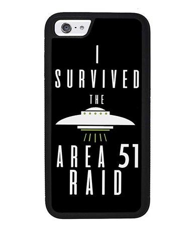 Amazon.com: I Survived The Area 51 Raid UFO Alien Conspiracy Apple iPhone Black Rubber Phone Case iPhone X iPhone XS Max iPhone XR iPhone 8 iPhone 7 iPhone 8 Plus iPhone 7 Plus iPhone 6 iPhone 6 Plus: Handmade
