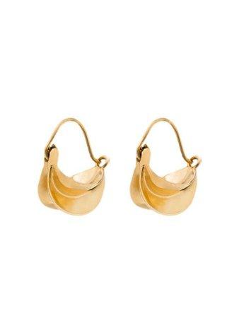 Anissa Kermiche Gold-Plated Hoop Earrings E1236 | Farfetch