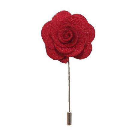 Red Flower/Rose Lapel Pin / Corsage / Buttonhole / Boutonnière
