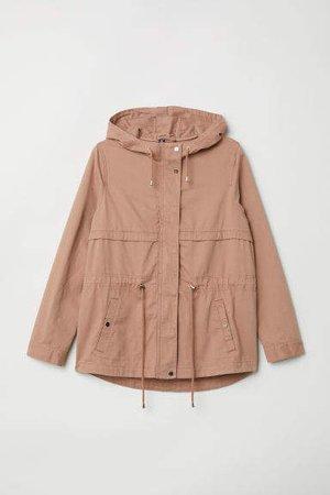 H&M+ Short Cotton Parka - Pink