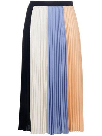 TWINSET colour-block pleated skirt - FARFETCH