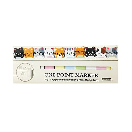 Amazon.com: Wrapables A67779 Bookmark Flag Tab Sticky Notes, Kitties, Set of 2: Arts, Crafts & Sewing