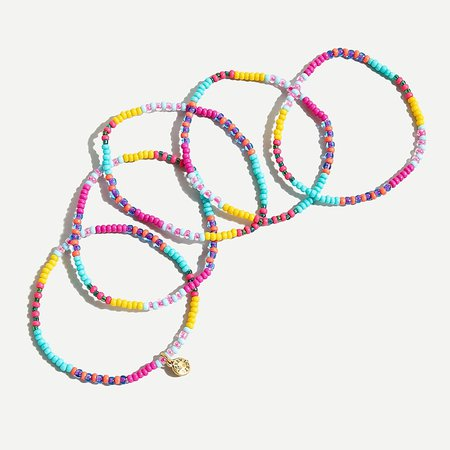 J.Crew: Colorful Beaded Bracelet Set For Women