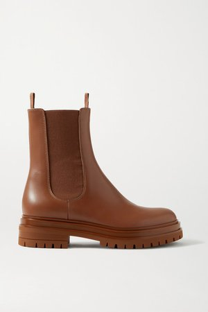 Leather Chelsea Boots - Light brown