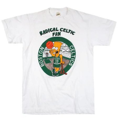Vintage Boston Celtics Bart Simpson T-shirt