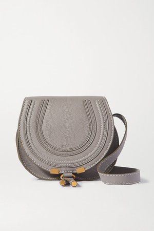 Chloé | Marcie mini textured-leather shoulder bag | NET-A-PORTER.COM