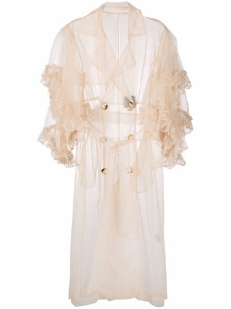 Act N°1 ruffle-trimmed tulle coat SSC2101 - Farfetch