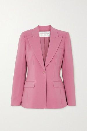 Wool-blend Crepe Blazer - Pink