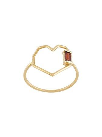 Aliita Heart Shaped Ring RIPU2J0018YG09K Gold   Farfetch