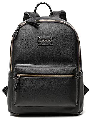 black backpack diaper bag