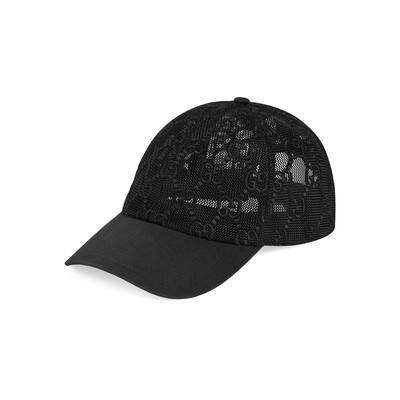 GG Net Embroidered Baseball Hat | GUCCI® US
