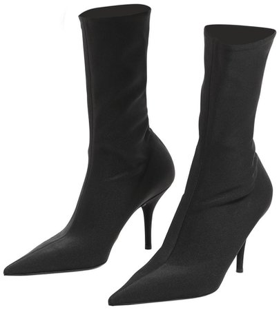 BALENCIAGA Black Knife Boots