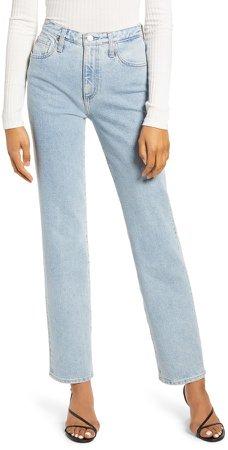 Alexxis Vintage High Waist Straight Jeans