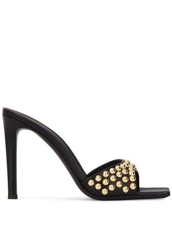 Giuseppe Zanotti stud-embellished sandals black & gold I000056002 - Farfetch