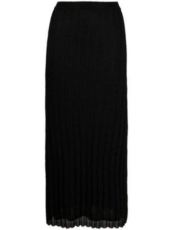 Totême pleated midi skirt black 212322760 - Farfetch